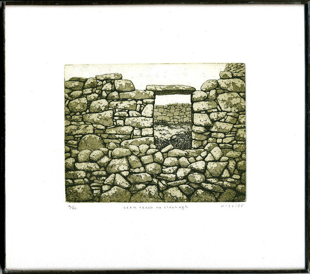 Limited Edition Etching of an Old Stone House by Canadian Artist