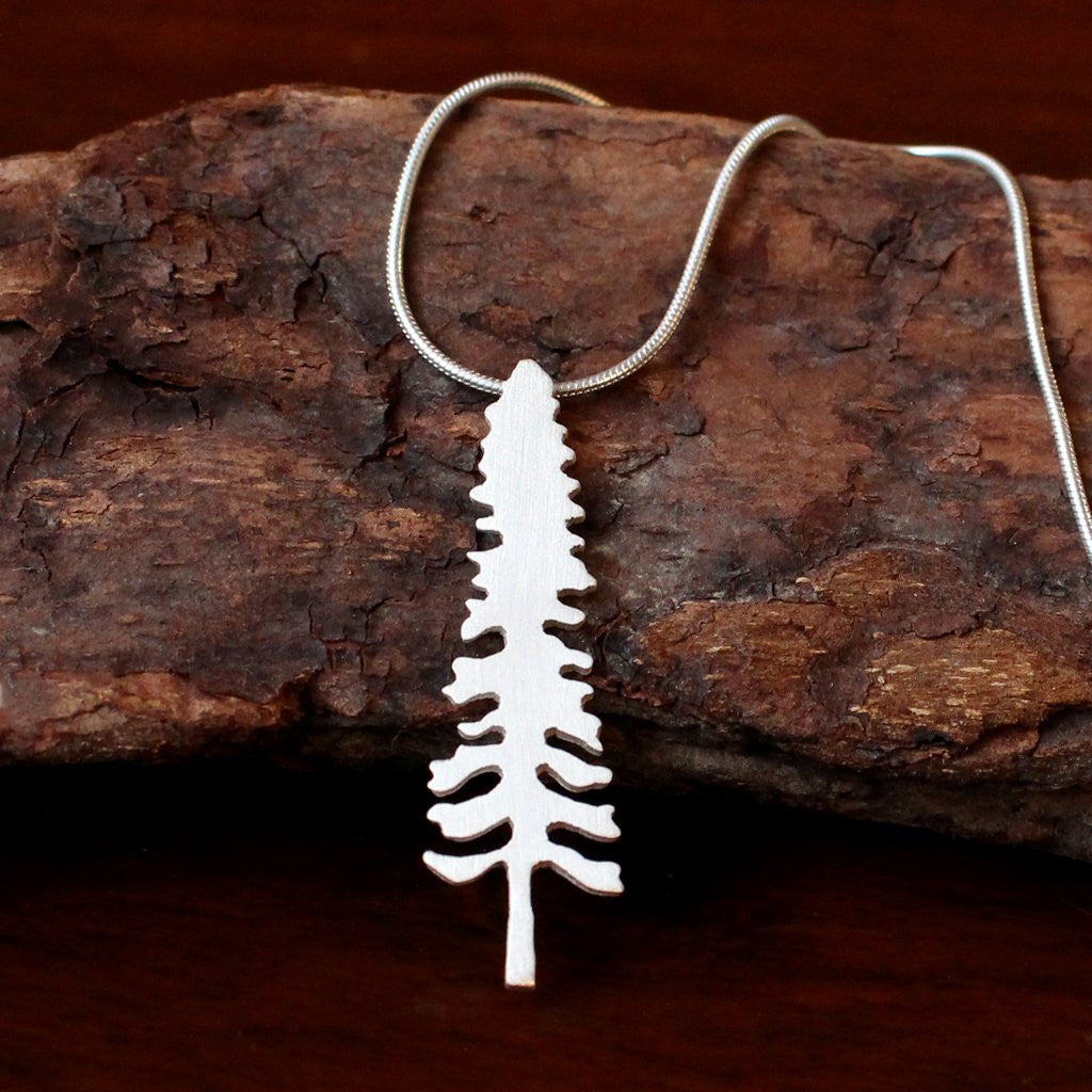 Sterling Silver Spruce Tree Necklace