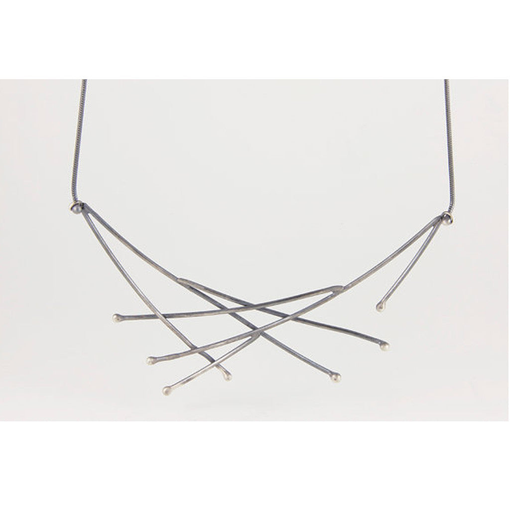 Sterling Silver Twig Necklace