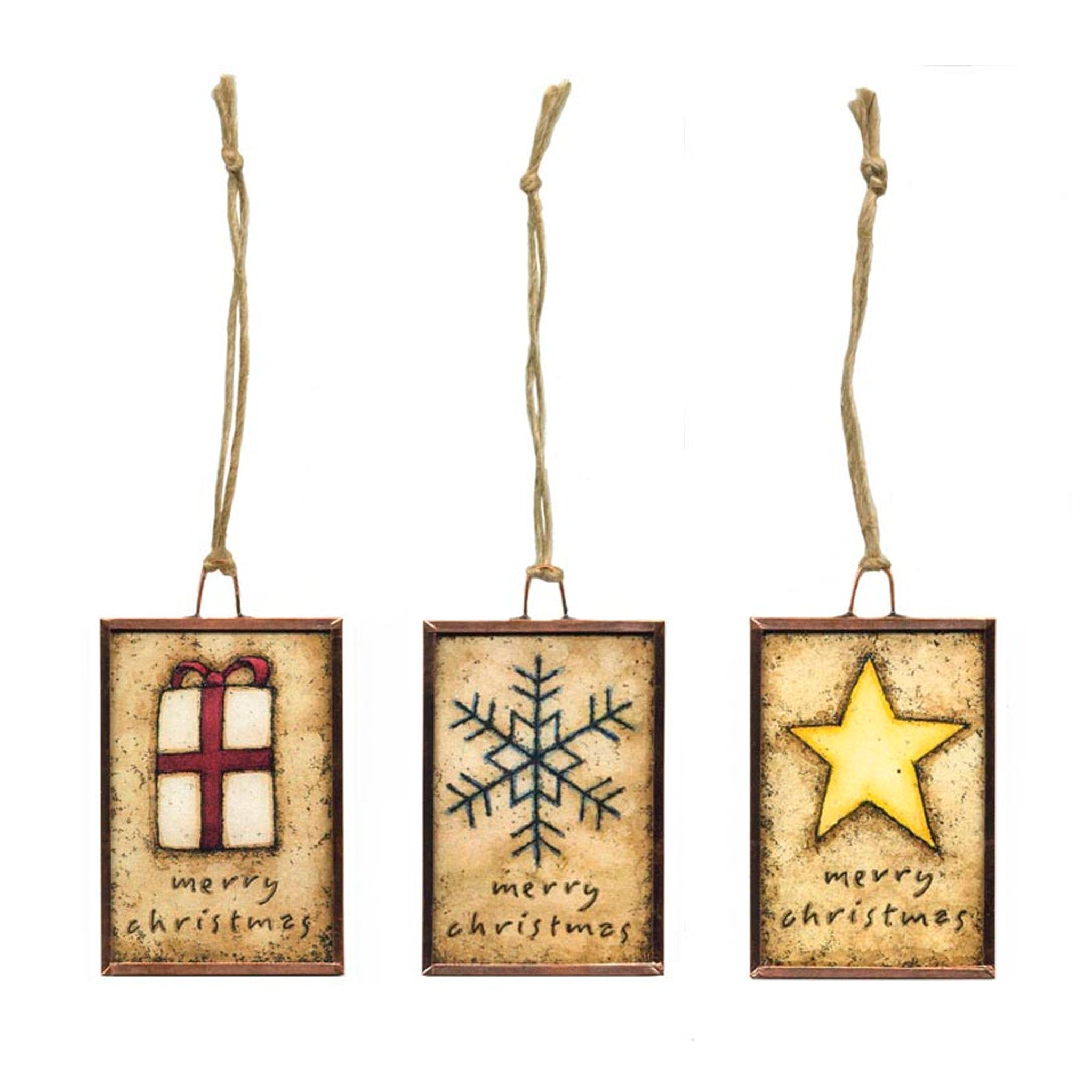 Christmas Ornaments - Set of three