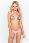 Charlotte Pink Feather Bikini