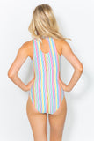 Paulina Candy Stripe Swimsuit