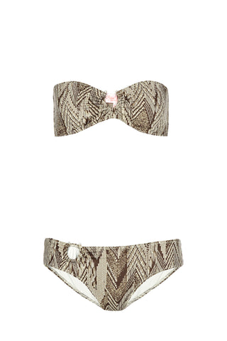 Chloe Bronze Feather Bikini