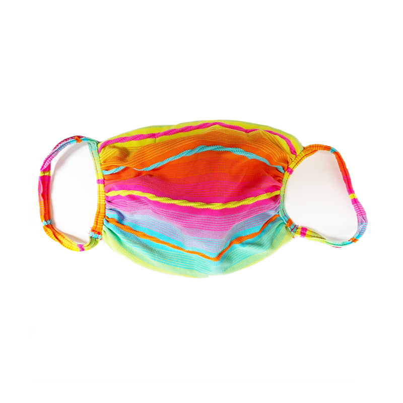 Fabric Face Mask Multi Coloured Stripe