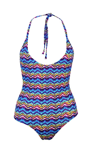 Myriam Textured Aztec Swimsuit