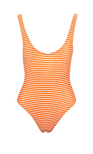 Rosie Orange Stripe Swimsuit