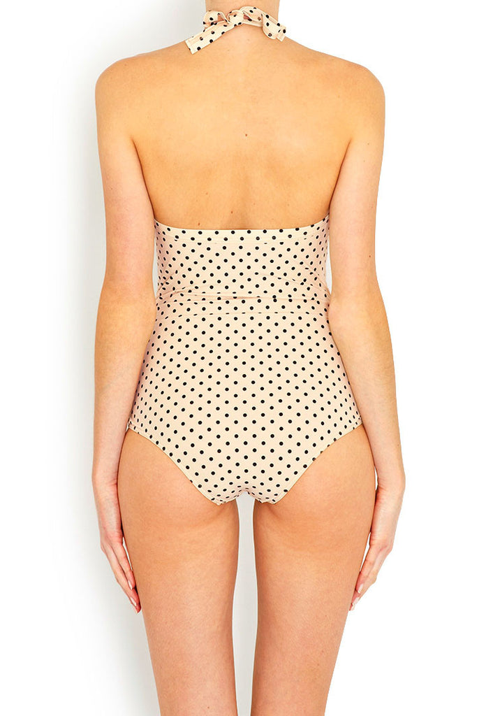Jane Cream Polkadot Swimsuit