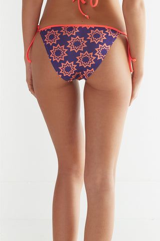Valentina Bikini Bottoms In Purple & Orange