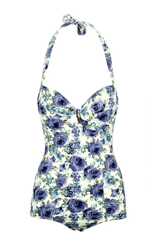 Jane Blue Vintage Rose Swimsuit