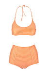 Scarlet Stripe Orange Bikini