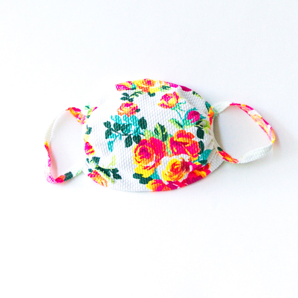 Fabric Face Mask Floral Print