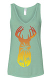 Mint Sunset Deer Tank - Southern Life Apparel