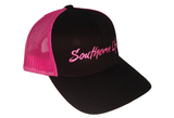 Pink & Black Southern Life Snap Back Hat - Southern Life Apparel