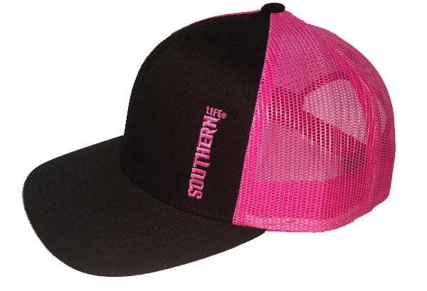 Black & Pink Southern Life Snap Back Hat - Southern Life Apparel