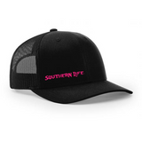 Black & Pink Southern Life Snapback - Southern Life Apparel