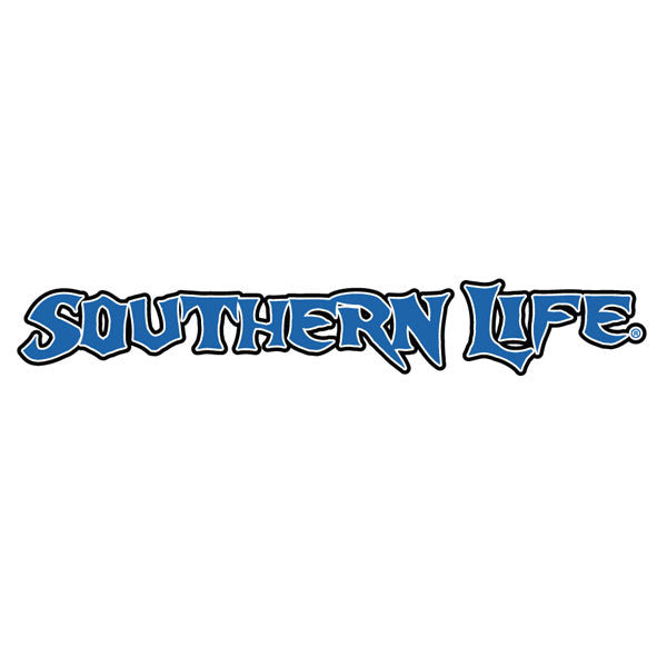 Blue & White Southern Life Decal - Southern Life Apparel
