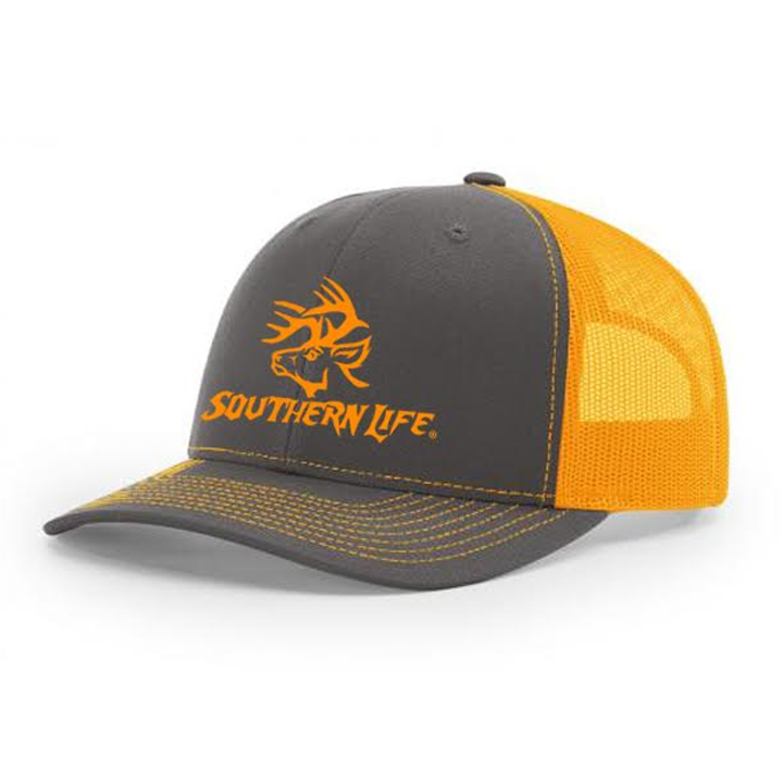 Monster Buck Snapback - Charcoal & Orange - Southern Life Apparel