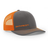 Grey & Orange Southern Life Snapback - Southern Life Apparel