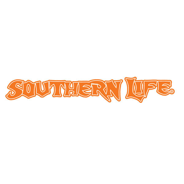 Orange Southern Life Decal - Southern Life Apparel