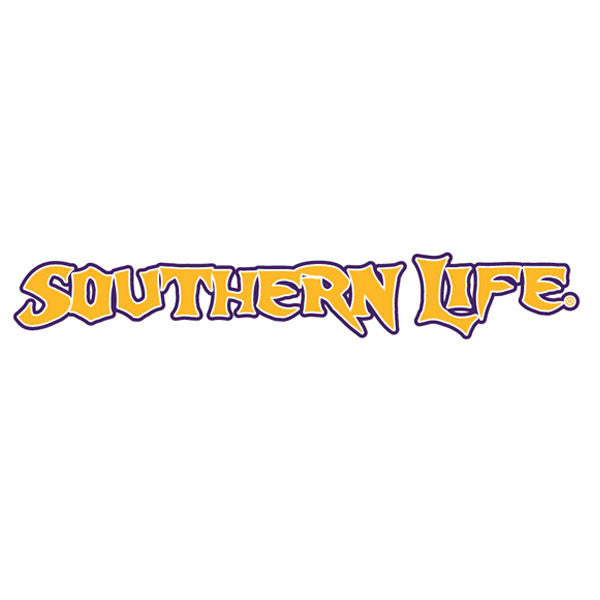 Purple & Gold Southern Life Decal - Southern Life Apparel