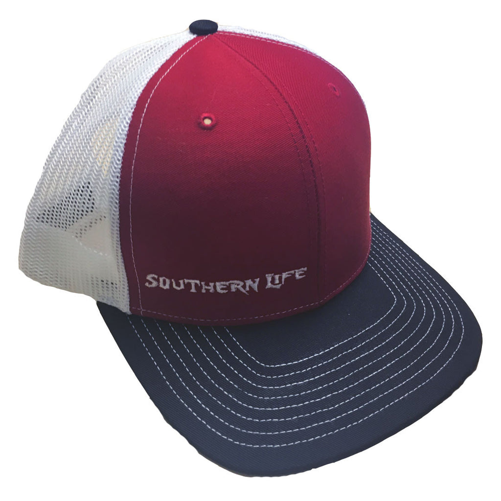 Red & Black Southern Life Snap Back Hat - Southern Life Apparel