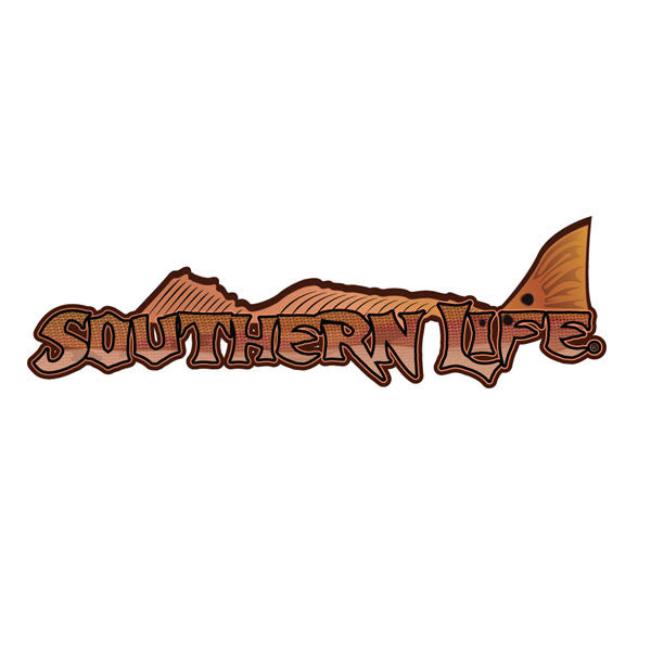 Southern Life Redfish Decal - Southern Life Apparel