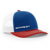Red, White & Blue Southern Life Snap Back Hat - Southern Life Apparel