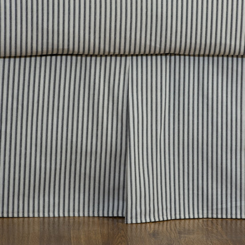 Black Ticking Stripe Bedskirt Dust Ruffle