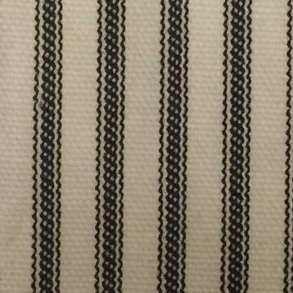 Black Ticking Stripe Shower Curtain