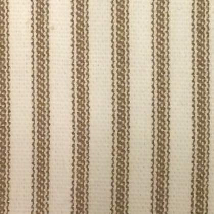 Brown Ticking Stripe Shower Curtain