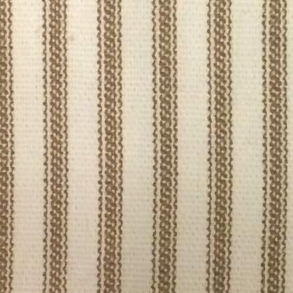 Brown Ticking Stripe Curtain Panel