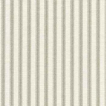 Ruffled Ticking Stripe Shower Curtain Gray