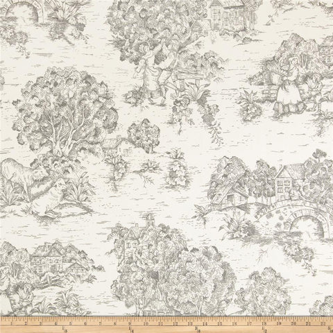 Twin Duvet Cover | Farmhouse Toile Gray