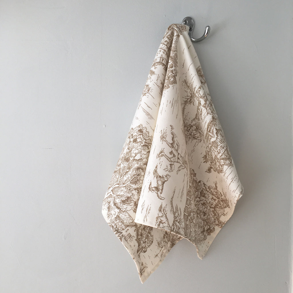 Brown Toile Guest Towel