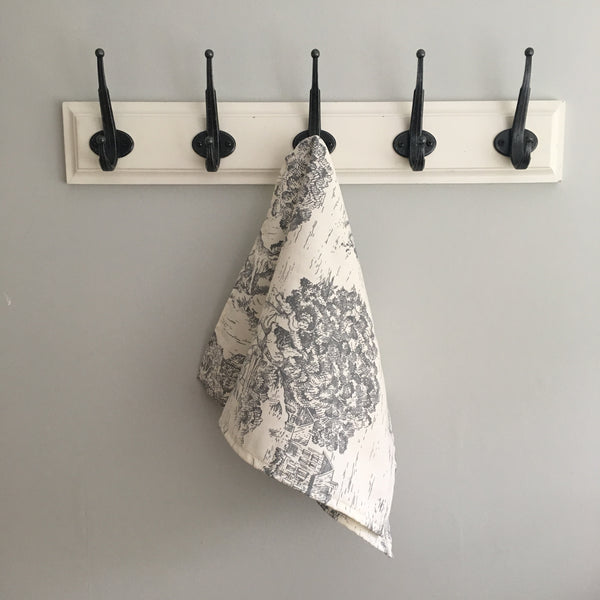 Gray Toile Guest Towel