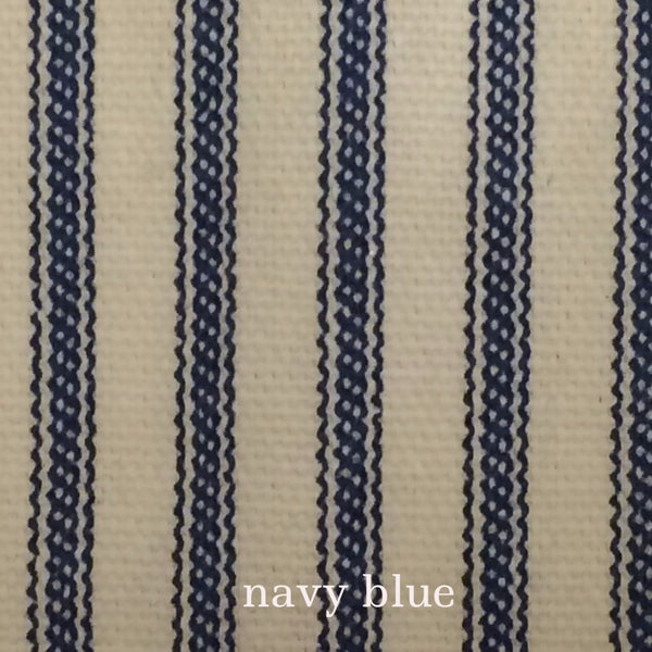 Ticking Stripe Shower Curtain Navy Blue