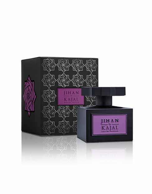 Bottle & Box of Jihan by Kajal EDP 100ml.  A new niche fragrance part of the Warde Collection.