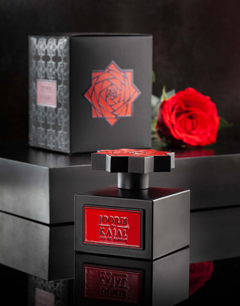 Visual of Joorie by Kajal EDP 100ml.  A new niche fragrance; part of the Warde Collection.