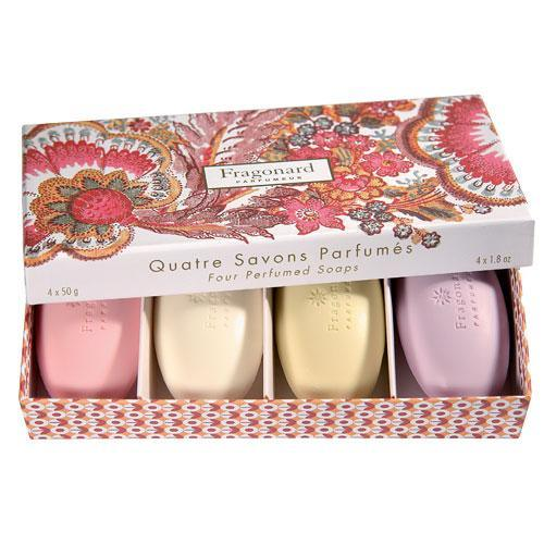 Fragonard Set of Soaps Flowers 4 mini perfumed soaps