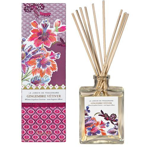 Fragonard Gingembre Vétiver Room Diffuser & 10 sticks