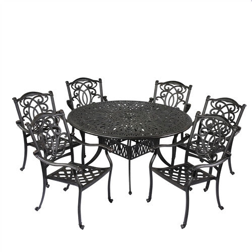 Summerset Patio Furniture.Summerset Mahimaa 60 Round Signature Dining 7pc