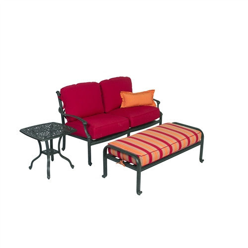 SUMMERSET ARIANA DOUBLE SEAT AND OTTOMAN
