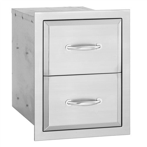 ALTURI STAINLESS DOUBLE DRAWER
