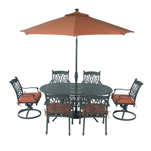 SUMMERSET ARIANA 8PC 72X42 OVAL SIGNATURE DINING