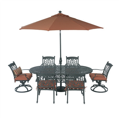 SUMMERSET ARIANA 8PC 84X42 OVAL SIGNATURE DINING