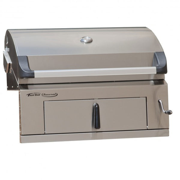 TURBO CHARCOAL STAINLESS STEEL BUILT-IN GRILL