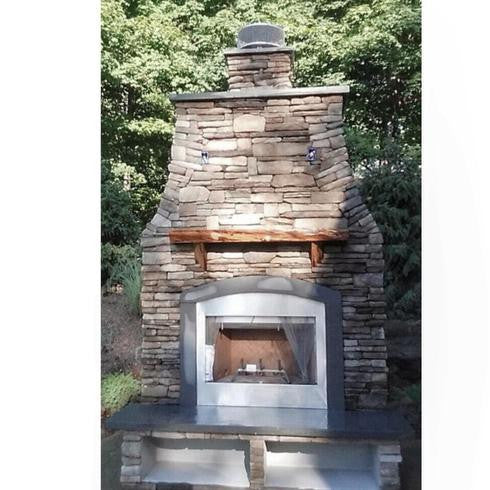 EASY OUTDOOR KITCHEN SYSTEM FIREPLACE