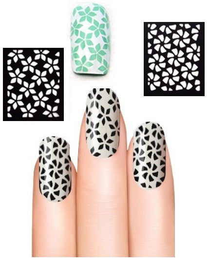 32 Nail Stencils style 105