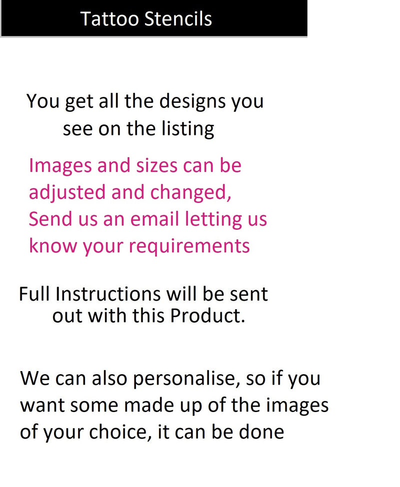 Akita  Tattoo Body Art  Stencils