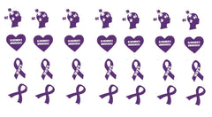 Alzheimer's Awareness Vinyl Stickers ( Multiple colours to choose from )